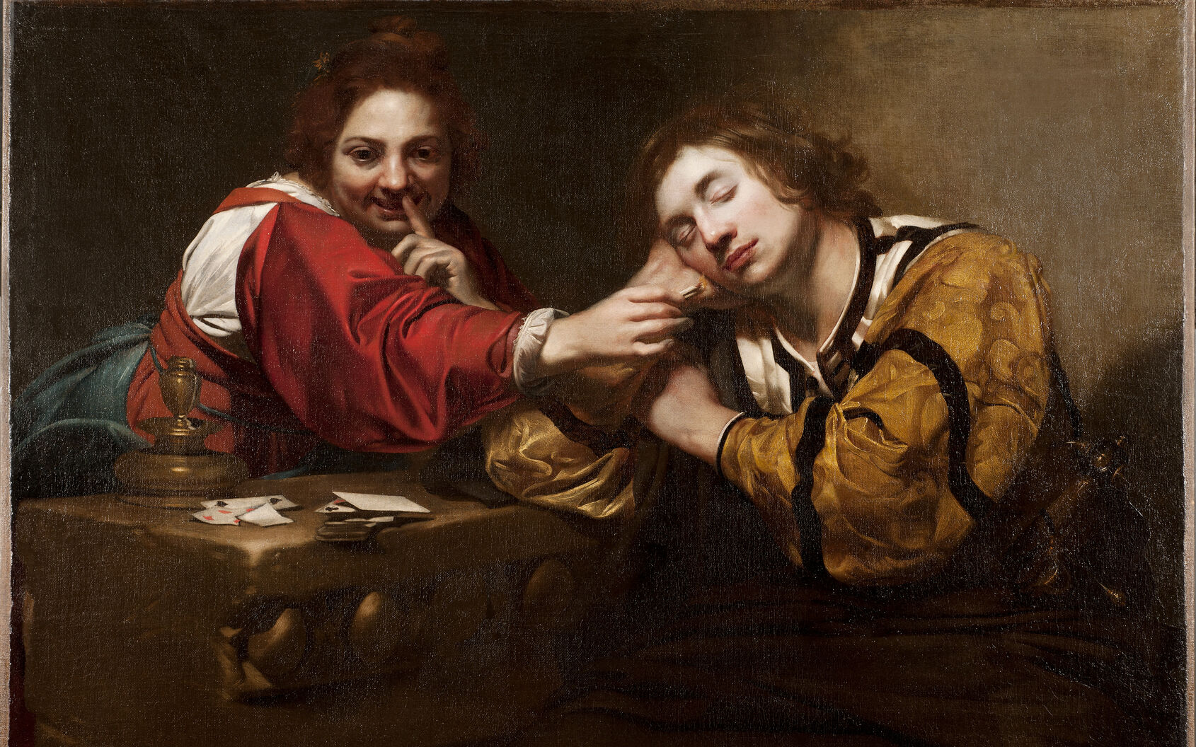 Nicolas Regnier, Sleeper Awakened by a Young Woman with Fire