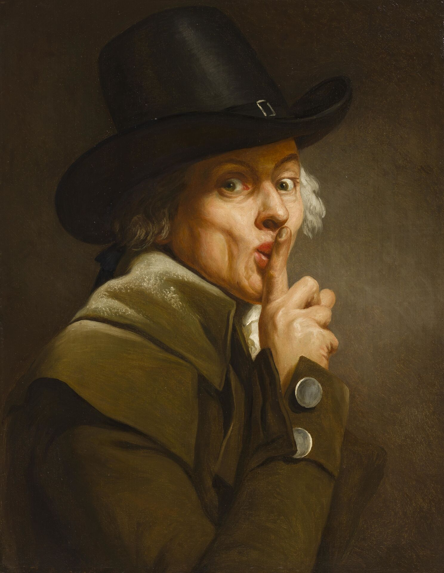 Joseph Ducreux, Self-portrait, entitled Le Silence