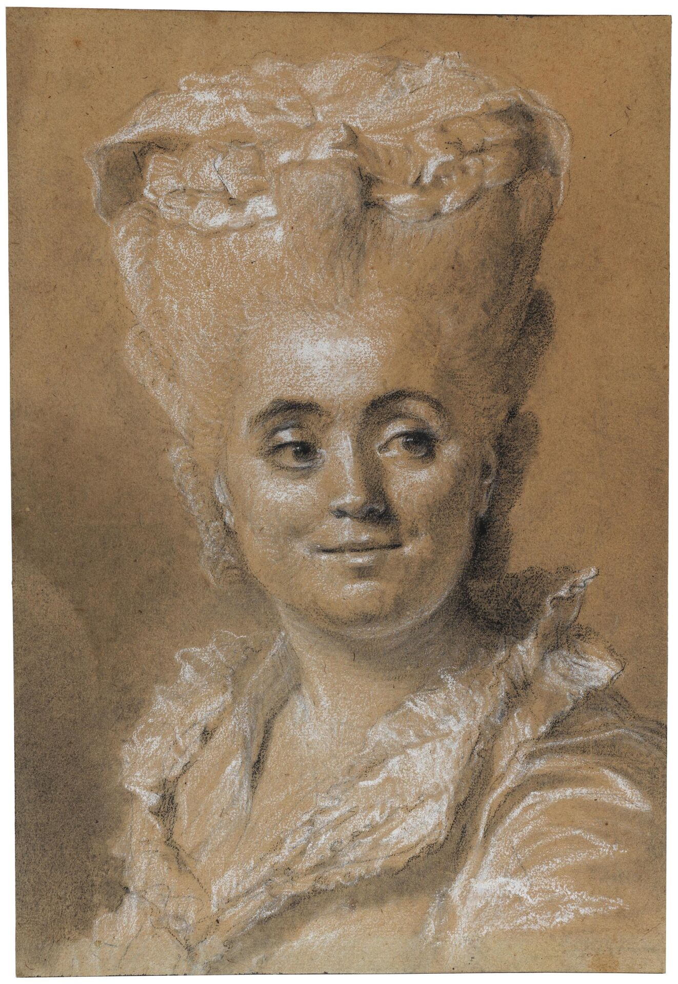 Johann-Ernst Heinsius, Portrait of a Woman Looking to the Right. Photo: Cecilia Heisser/Nationalmuseum.