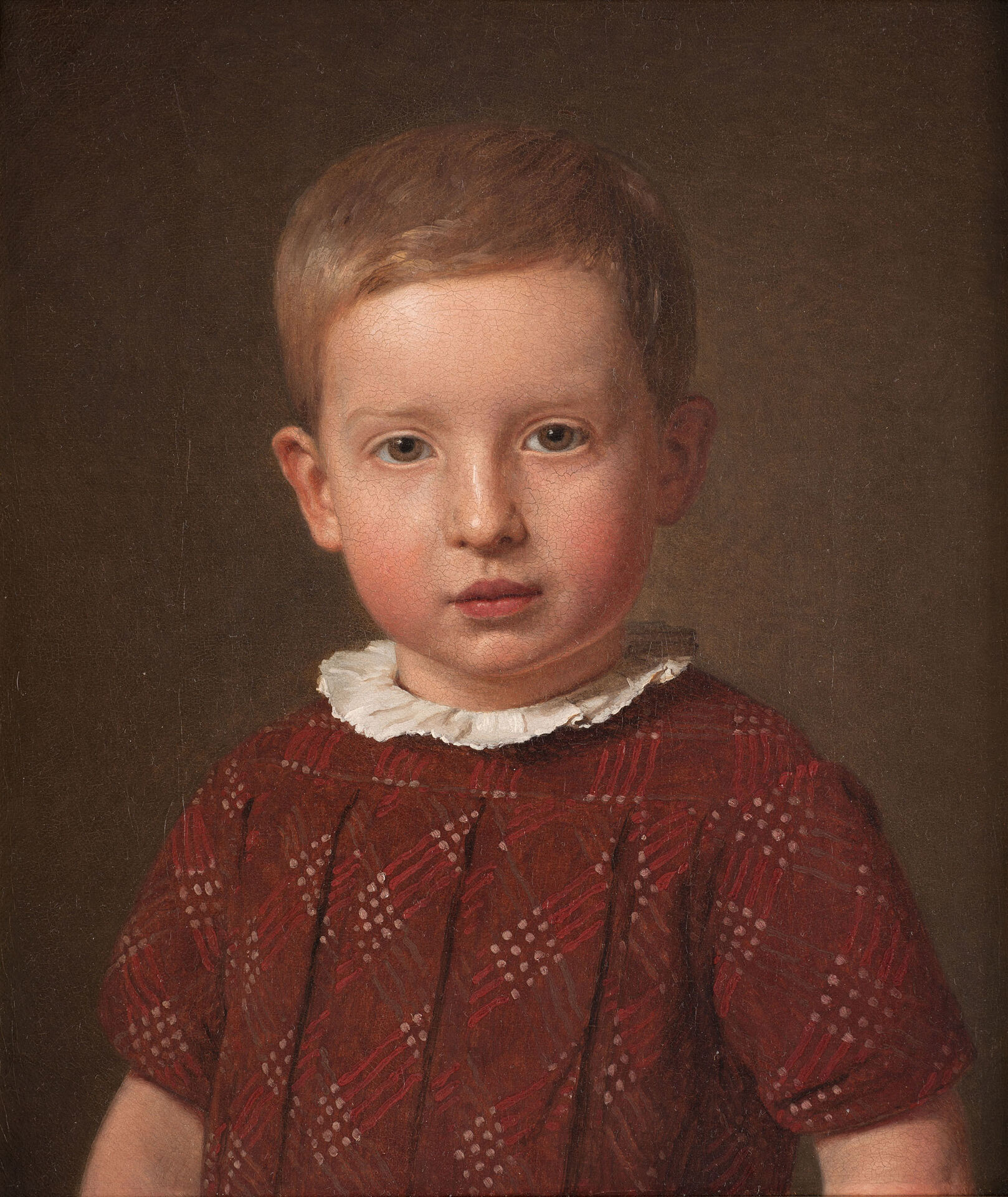 Christen Købke, The artist's nephew , the artist and headmaster Johan Jacob Krohn as a child, 1846. Oil on canvas. Nationalmuseum