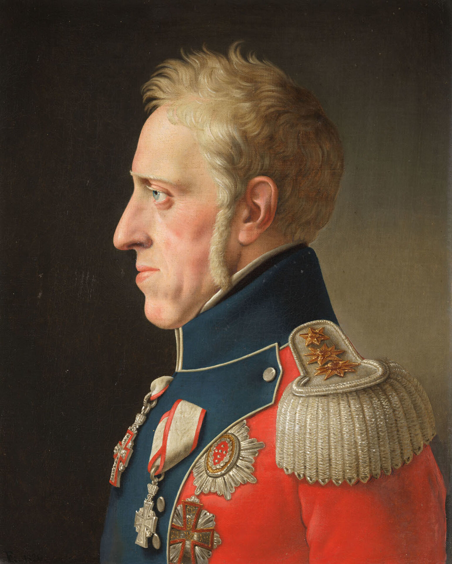 Christoffer Wilhelm Eckersberg, Frederik VI of Denmark (1768–1839), 1820. Oil on canvas. Nationalmuseum.